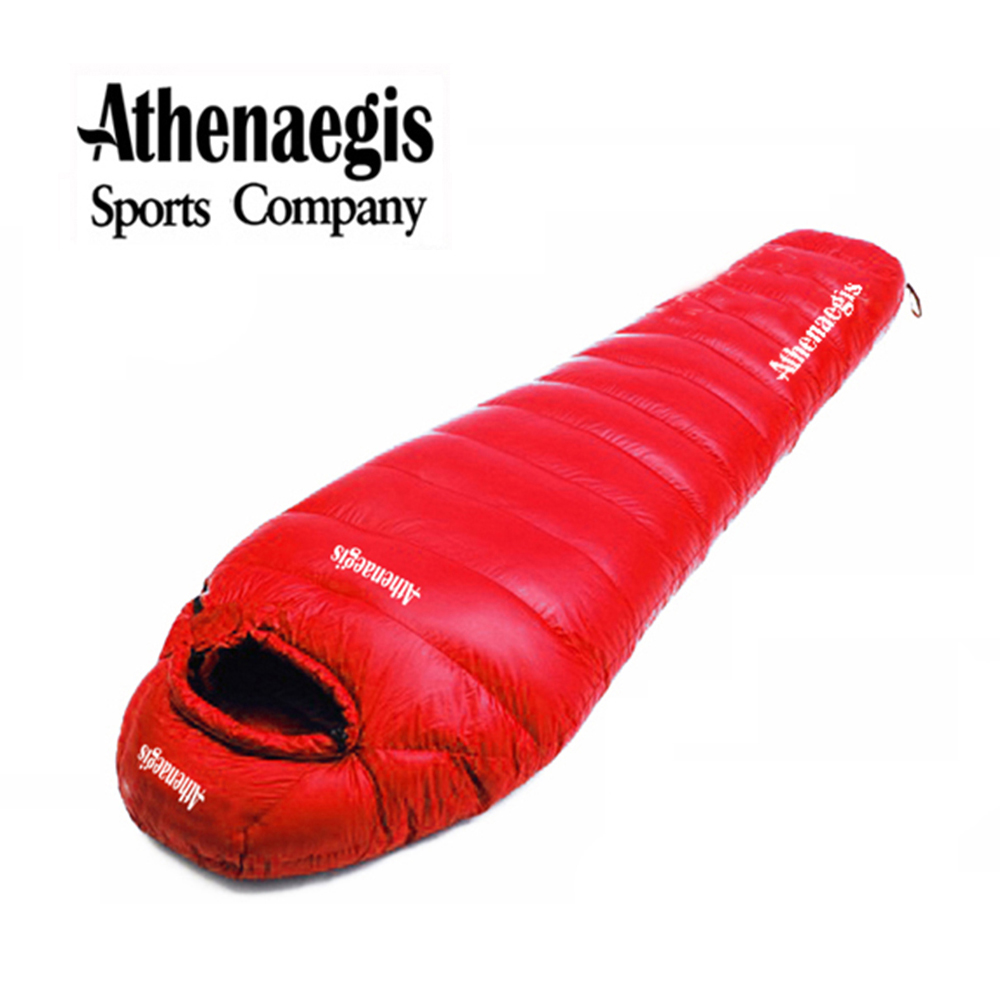 Athenaegis 1800G 화이트 구스 다운 필링은 미라 초경량 침낭을 접합 할 수 있습니다