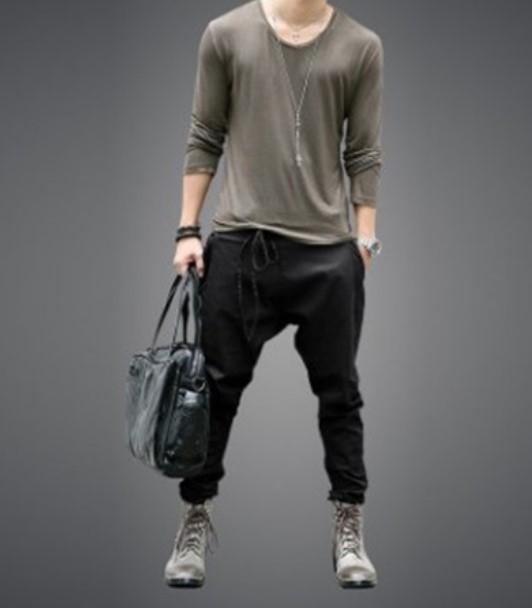 European and American trendy young men's pants, all kinds of leggings, leggings, men's pants, lace up, loose casual pants, Leggi 12