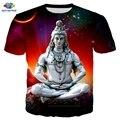 Мужская футболка SONSPEE с изображением индуистского бога, лорд Шивы, 3D принт, футболки в стиле хип-хоп, модные футболки с изображением лорд Шив...