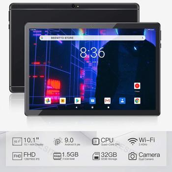 2020 Newest 10 inch Tablet PC Android 9.0 Quad Core 32GB ROM Bluetooth 5.0MP IPS 1280*800 GPS wifi Phone Tablets 10.1
