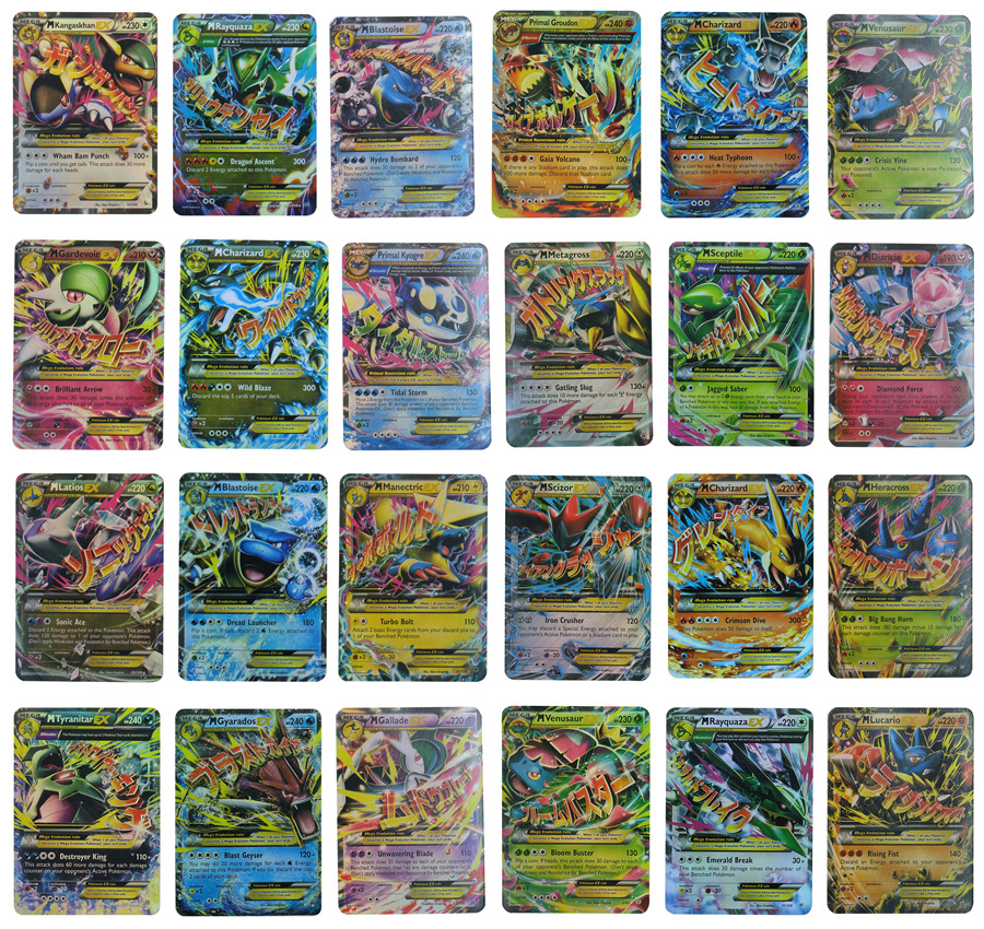 Pokemon  Gx Card Pet GX Ex English Card Game Battle  Pokemon Game Collection Cards Toys