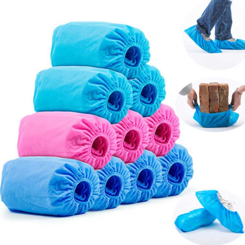 100/200pcs Disposable Shoe Covers Thicker Non-woven Dustproof Non-slip Shoe Cover Household Foot Cover Overshoes Carpet