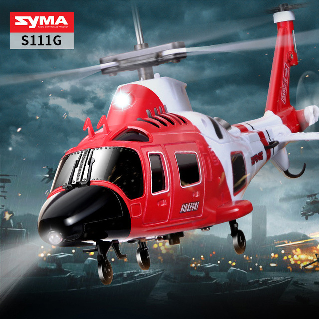 Original  SYMA S109G alloy gunship anti-fall remote control helicopter children's remote control toy 4