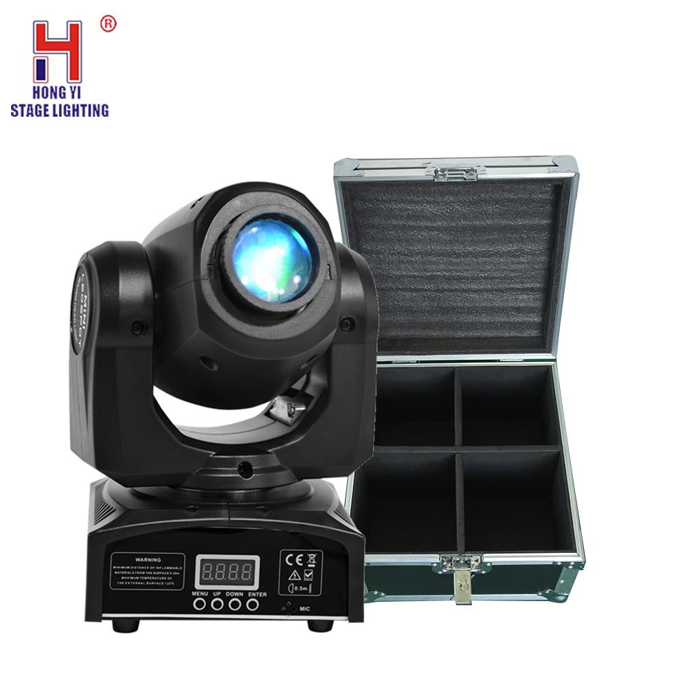 LED Inno poche Spot Mini lumière principale mobile 30W DMX dj 8 gobos effet scène lumières avec étui de vol (4 pcs/lot)