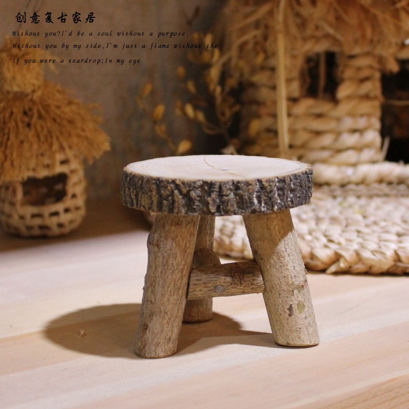 Restoring Ancient Ways Small Wooden Chair Baby Photography Props BeBe Photo Small Furnishings Accessory