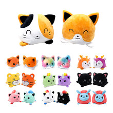 Pet Cat Toy Soft Reversible Plushie Pulpo Toy For Cat Kitten Kids Plush Animals Unicorn Double-Sided Flip Doll Peluche Cute Toys
