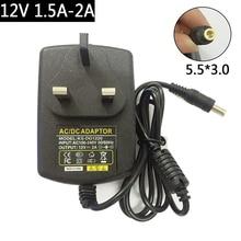 Novo 12v 1.5a 2a 5.5*3.0 com adaptador de pino de alimentação para sony AC M1208 AC M1208UC AC M1208WW BDP S4200 BDP S5200 blu ray disc player