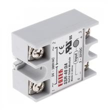 цена на 1pcs Gray Durable SSR-40DA  Remote-control Machinery Fire Protection System Solid State Relay Module 3-32V DC To 24V-380V AC 40A