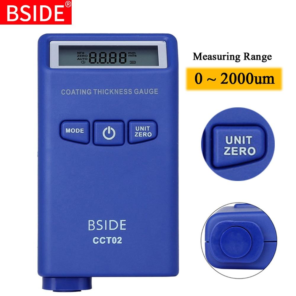 Digital Coating Thickness Gauge BSIDE CCT02 Mini Car Paint Thickness Meter Film Paint Coating Tester Eddy current F N