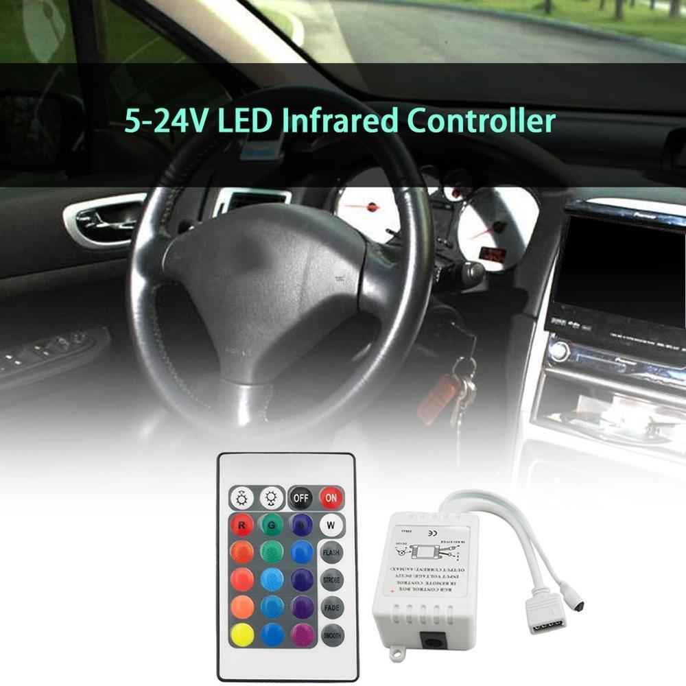 Светодиодный rgb-контроллер, 24 клавиши, 44 клавиши, Мини ИК-пульт дистанционного управления RGBW, 12 В постоянного тока, диммер, блок управления