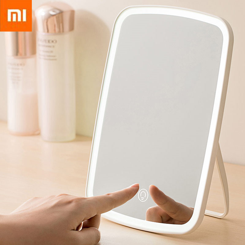 Xiaomi Mi Portable LED Makeup Mirror Natural Light USB Charging Adjustable Touch Control Brightness Dimmable Women Smart Remote Control  - AliExpress