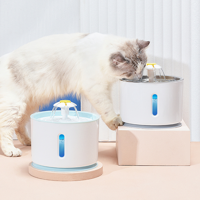 Pet Water Fountain for Cats & Dogs - LED Water Level Display  3