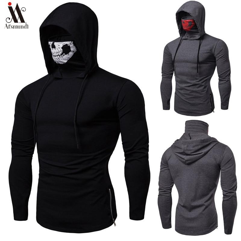 2020 Long Sleeve Fitness Hoodies Men Autumn Thin Sweatshirt Male Sporting Slim Fit Streetwear Solid Pullover Street Hoodie White