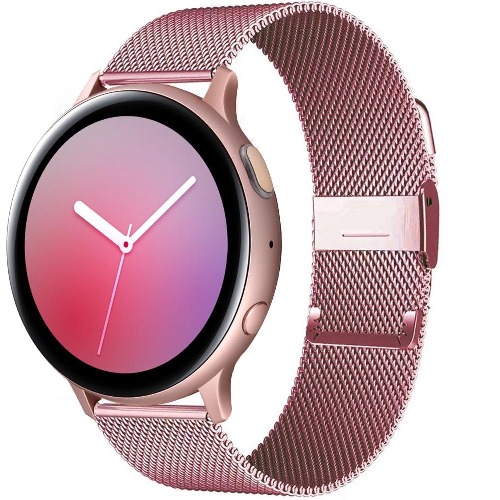 Ремешок магнитный для Samsung Galaxy watch Active 2 44 мм 40 мм/46 мм/42 мм/3 Gear S3 Frontier 20 мм 22 мм Huawei watch GT/2/2e/Pro