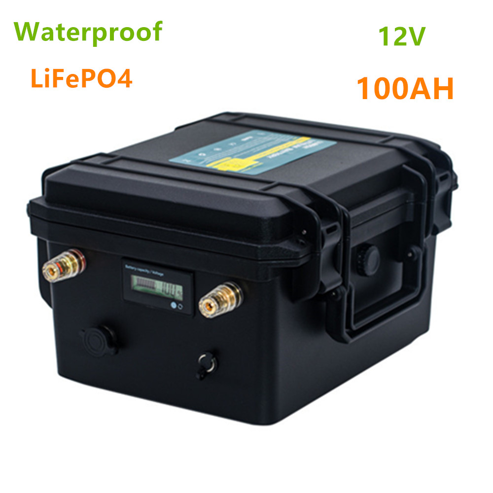 <font><b>Lifepo4</b></font> 12V100ah lithium <font><b>battery</b></font> pack <font><b>12V</b></font> <font><b>LiFePO4</b></font> <font><b>100AH</b></font> waterproof <font><b>battery</b></font> pack for boat propelle/motor,Solar LED, inverter,etc image