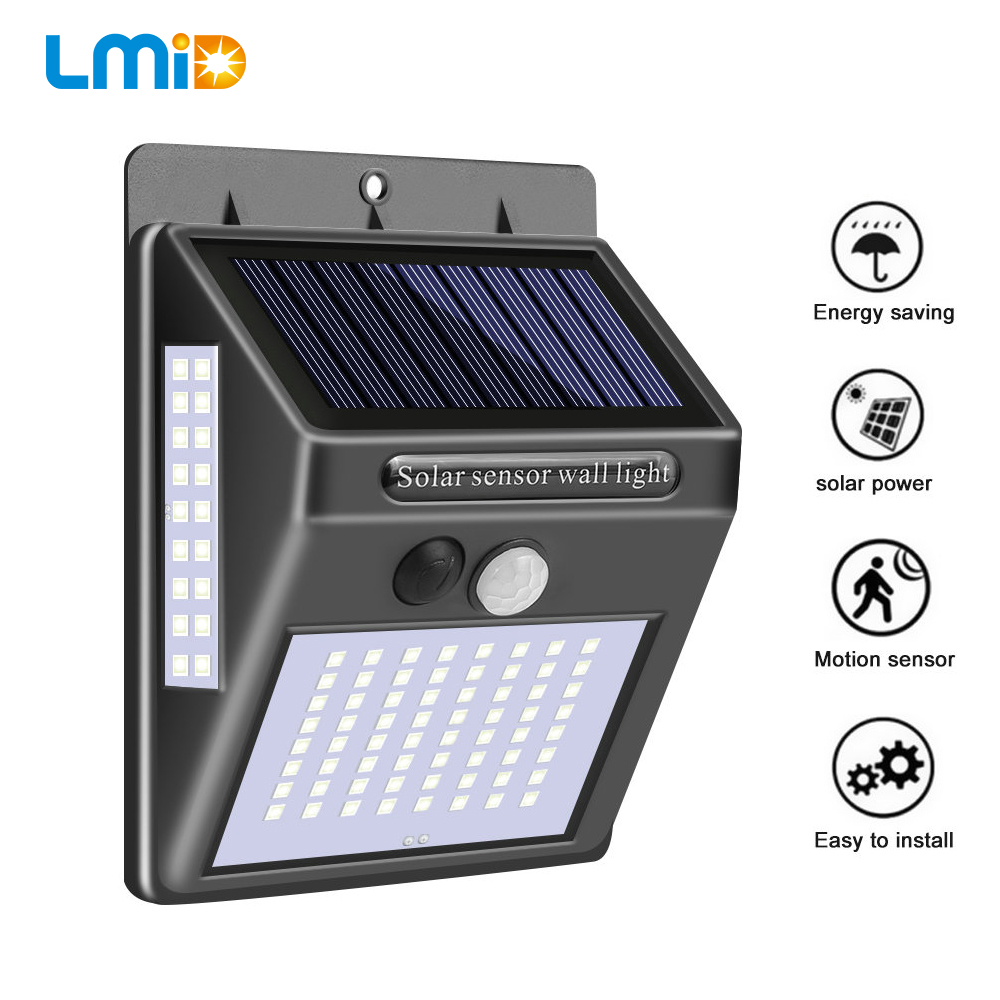 100/144 LED Solar Light PIR Motion Sensor Outdoor Solar Lamp IP65 Waterproof Wall Light Solar Powered Garden Street Light