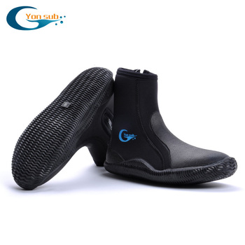 5MM Neoprene Scuba Diving Boots Water Shoes Vulcanization Winter Cold Proof Anti-slip High Upper Warm Fins Spearfishing