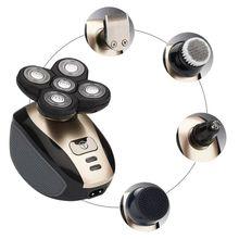 Men USB Charging Models Multi-function Waterproof 5-head Electric Shaver Shaving Beard Knife Rechargeable Razor so white wireless 3d smart control usb charging electric razor shaver ipx7 usb charging shaving