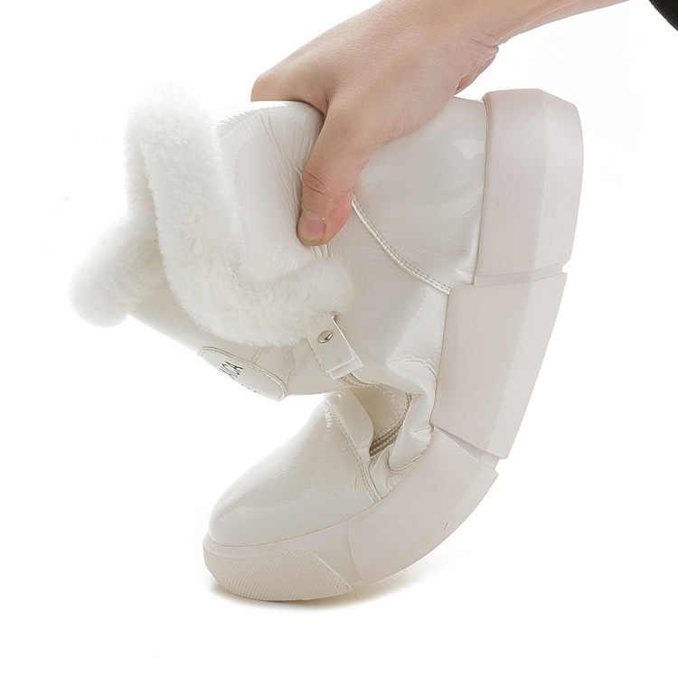 ผู้หญิงฤดูหนาวหิมะรองเท้าบู๊ทข้อเท้ากันน้ำใหม่ INS Hot Light หญิงรองเท้าผ้าฝ้ายแฟชั่นขนสัตว์ข้อเท้ารองเท้า g906