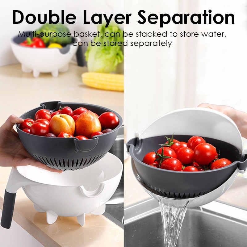 Dropship Upgrade Multifunktionale Drehen Gemüse Cutter Mit Ablauf Korb Küche Veggie Fruit Schredder Reibe Slicer овощерезк