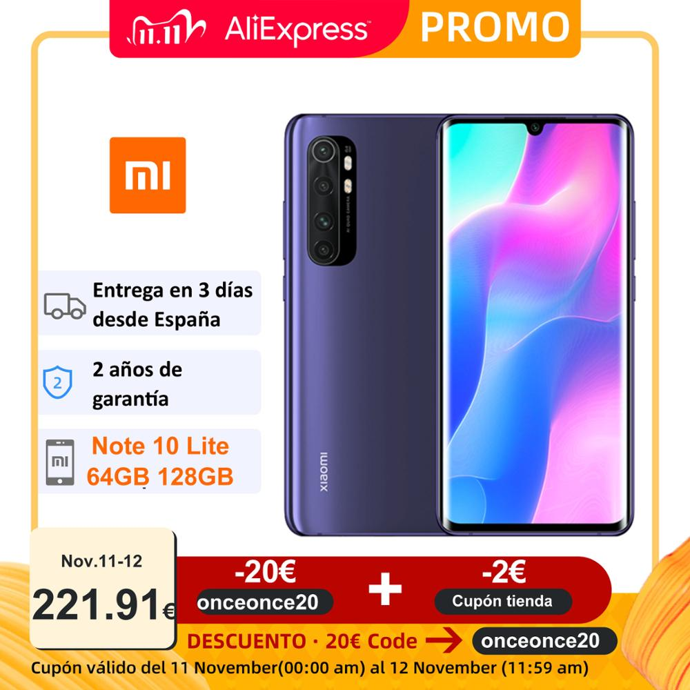 Global Version Xiaomi Mi Note 10 Lite 64GB 128GB Mobile Phones 64MP Cameras 6.47'' Curved AMOLED 5260mAh 30W Charger NFC|Cellphones| - AliExpress