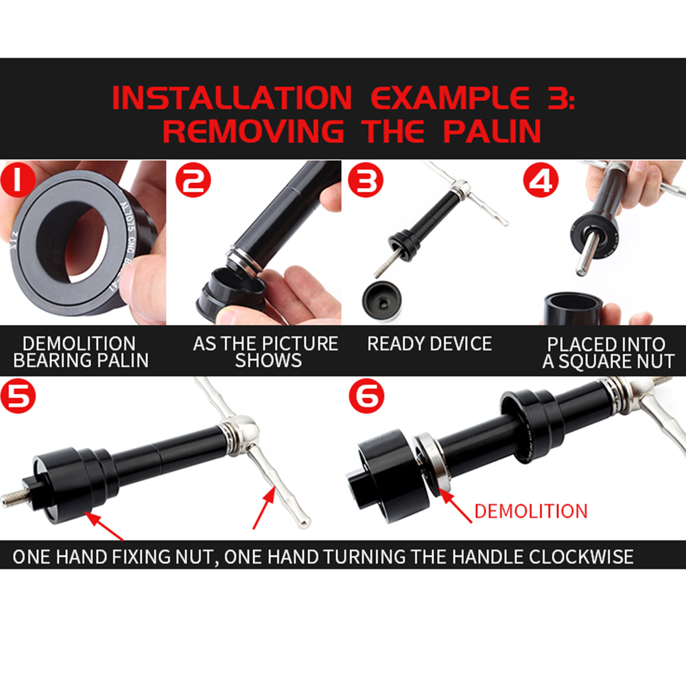 Iycorish Bicycle Bottom Bracket Install and Removal Tool Kit for BB86//BB30//BB91//BB92//PF30 Basic Version