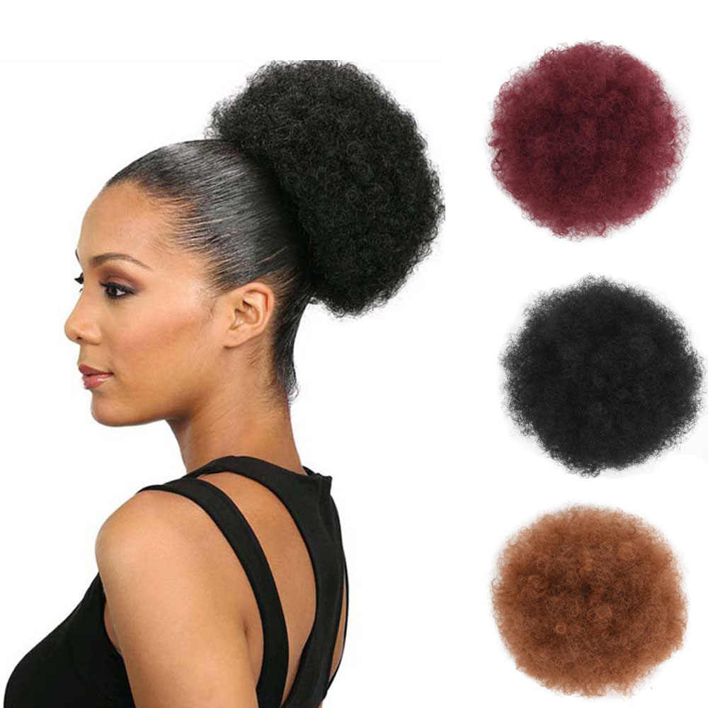 Jeedou Curly Chignon African Hair Updos Puff Afro Short Hair Bun Drawstring Ponytail Hairpiece Fake Synthetic Hair Extensions Synthetic Chignon Aliexpress