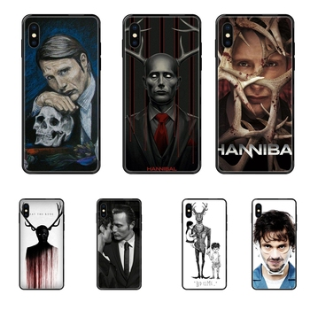 For Redmi Note 4 5 5A 6 7 8 8T 9 9S Pro Max Black Soft TPU New Style Unique Cool Graham Hannibal Mads Mikkelsen Beautiful image