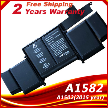 Laptop Battery A1582 for Apple MacBook Pro 13 Retina A1502 2015 year nabolang a1502 replace cover buttom case battery housing cover for macbook pro 13 3 retina a1502 2013 2014 2015 laptop