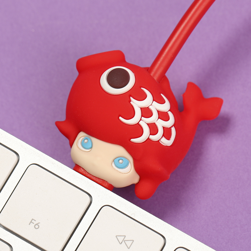 POPMART iPhone Mobile Cable Type-C Charger Cute Dimoo Kawaii Art toys collectible toys cute animal charger(China)