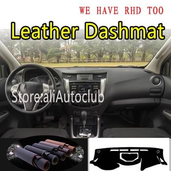For Nissan D23 NP300 Navara terra Renault Alaskan G3 2015-2020 Leather Dashmat Dashboard Cover Pad Dash Mat Sunshade Carpet Car