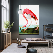 American Flamingo by John James Audubon PRINT Original HUGE POSTER FOR WALL DECOR ON CANVAS
