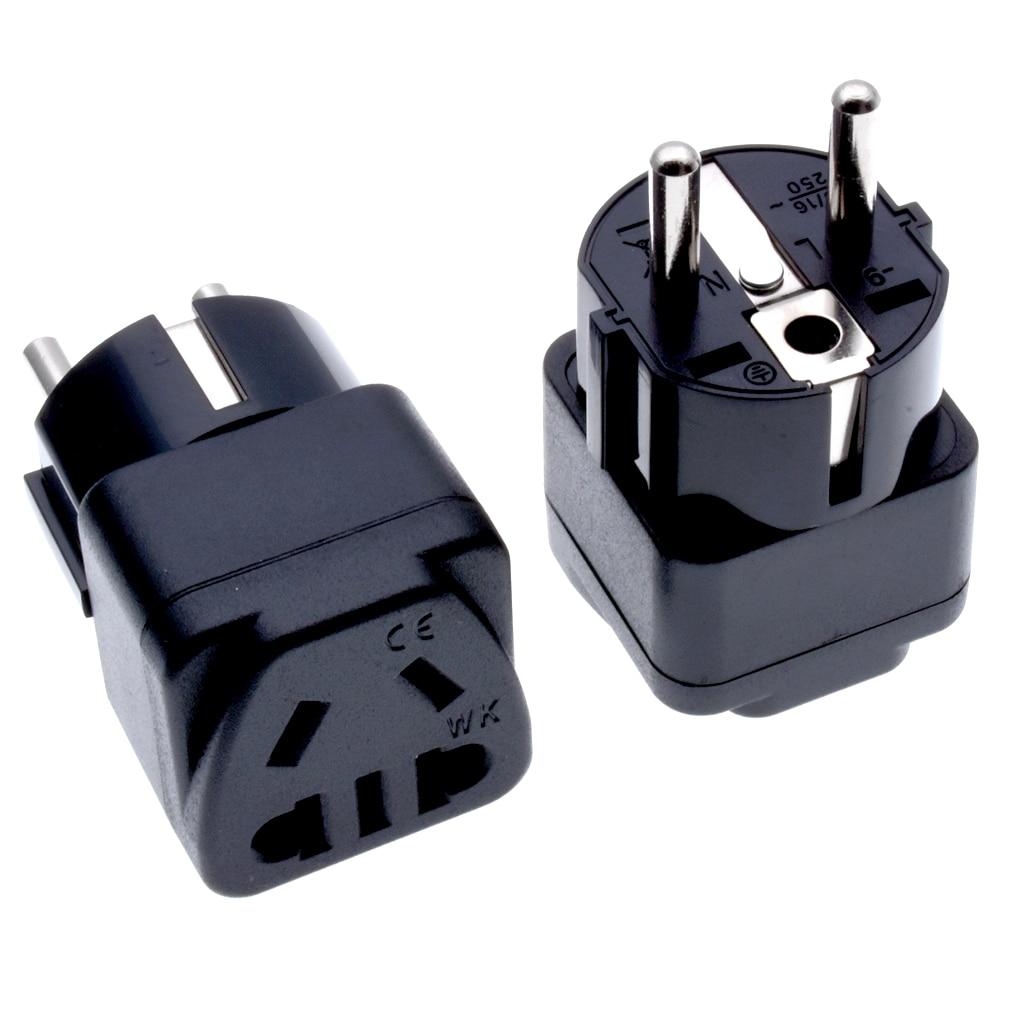 EU Plug Adapter CN AU Australia Type I To Type F Charge Power Plug Socket Travel European Korean Conversion Adapter