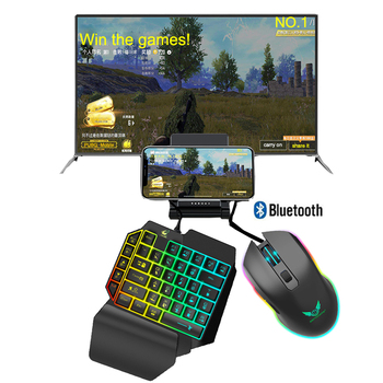 3 In 1 PUBG Controller Mobile Gamepad Cooler Fan Gaming Keyboard Mouse Converter Bluetooth For IOS Android Phone PUBG Adapter