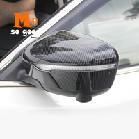 2014 2015 2016 2017 2018 For Nissan Rogue X trail Xtrail T32 Rear Side/Rearview Mirror Cover Trim ABS Carbon Fibre Accessories
