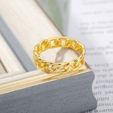 Золото корейский стиль хип хоп кубинский кольца для мужчин и