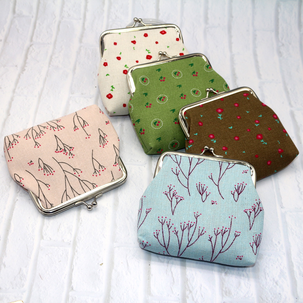 Creative Printed Women's Purse Cotton Cloth Wallet Key Customer Small Gifts Coin Bag