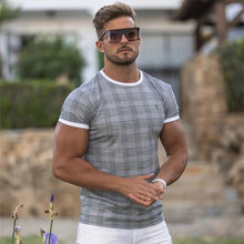 Summer Casual fashion t shirt Men Gyms Fitness Short sleeve T-shirt Male Bodybuilding Workout Tees Tops Clothes Men Apparel
