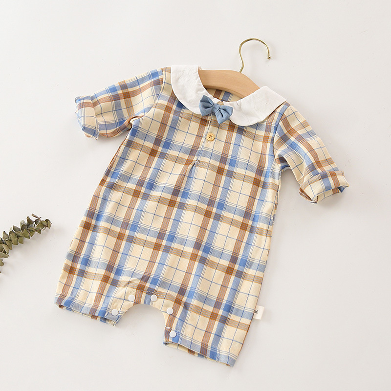 Newborn Baby Boy Clothes Autumn Baby Romper Genteman 1st Birthday Party For Boys Clothes Baptism Infant Boys Costume Christing