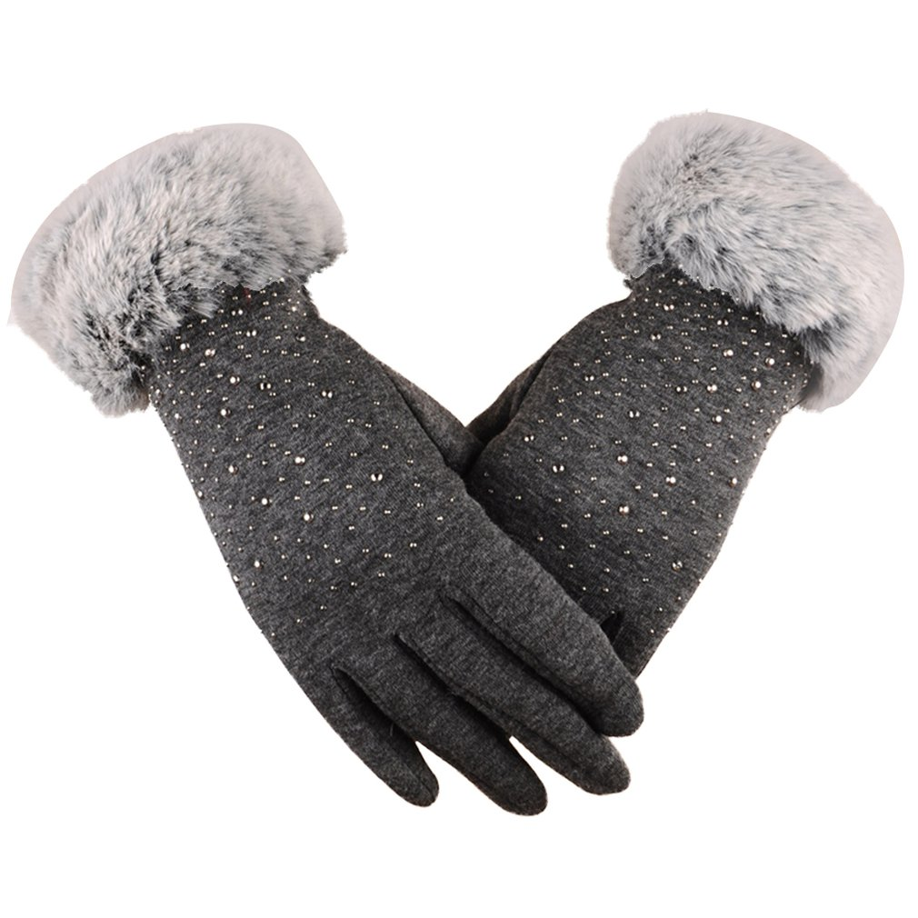 Women's Screen Gloves Warm Lined Thick Touch Warmer Winter Gloves Non-inverted Velvet For Outdoor Casual Wear