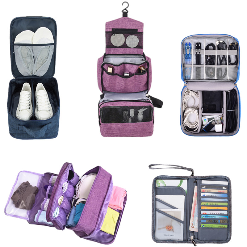 Travel Accessory Digital Bag Electronic Organizer Package Cosmetic Underwear Makeup Cases Bag Shoes Storage Pouch Passport Cover