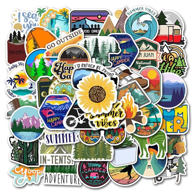 Happy Camper Sticker Pack (50 piece) 3