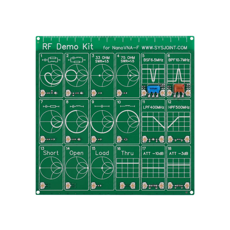 RF Demo kiti NanoVNA RF test cihazı kurulu filtre zayıflatıcı NanoVNA-F vektör ağ analizörü PCB DIY modülü