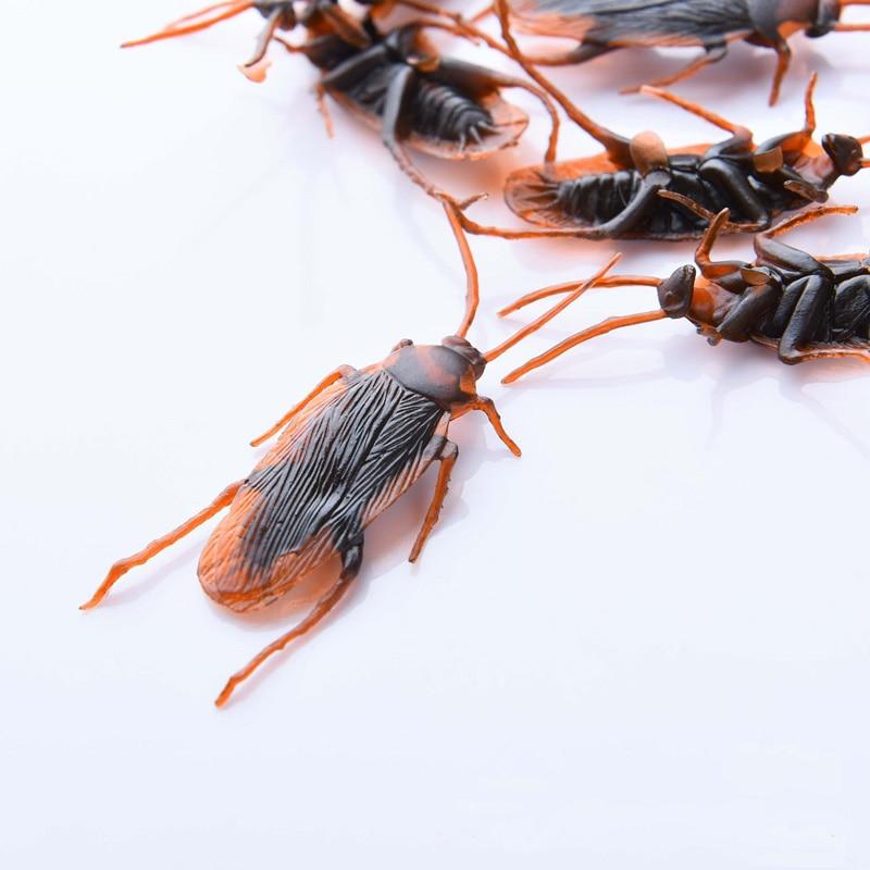 Toys Maker Simulation Gadget Plastic Bugs Practical Decorations Tricks Props Jokes Funny Cockroaches 10Pcs/Lot Pranks Gags False