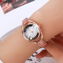 Luxury Ladies Watchws Fashion Stainless Steel Band Analog Quartz-Watch