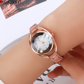 цена Luxury Ladies Watchws Fashion Stainless Steel Band Analog Quartz-Watch Round Women Wrist Watch Relogio Montre Femme Reloj Mujer онлайн в 2017 году
