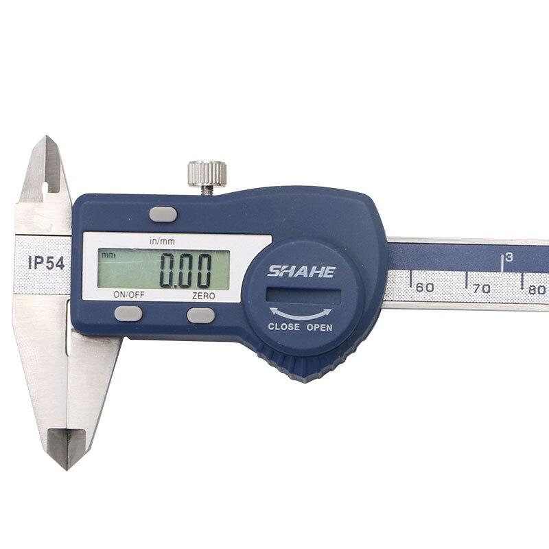 Digital Paquimetro SHAHE Vernier Waterproof IP54 4 Steel Tools Measuring Caliper Stainless Digital Inch100mm Calipers Micrometer