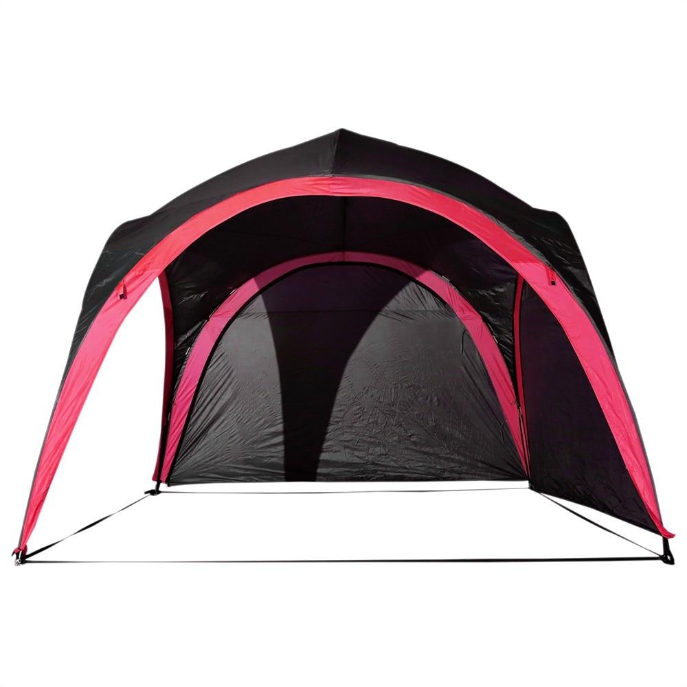 Outsunny tente imperméable UV pour 6 personnes plage Camping polyester 330x330x255 cm noir et - 3