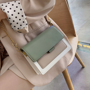 Image 1 - Mini Leder Umhängetaschen Für Frauen 2020 Grün Kette Schulter Einfache Tasche Dame Reise Geldbörsen und Handtaschen Kreuz Körper Tasche
