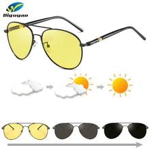 sunglasses men polarized uv400 high quality metal Chameleon Day Night Photochrom